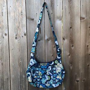Vera Bradley Mod Floral Blue Saddle Bag